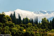 Sierra Nevada vista desde el Albaicín
