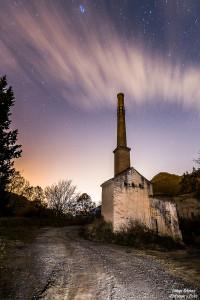nocturna estrellas fábrica pinos genil blanqueo enfoque y foto para facebook