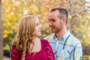 pareja amor sesión otoño tamron enfoque y foto para facebook