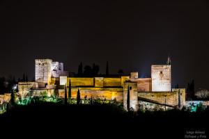 Noche alhambra granada enfoque y foto nikon d750 para facebook