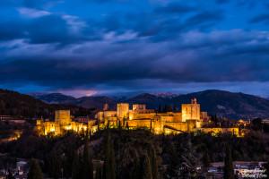 Alhambra desde san miguel bajo nikon d750 enfoque y foto para facebook
