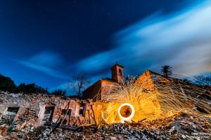 lana de acero fuego tablate iglesia enfoque y foto para facebook