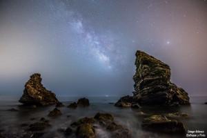 maro via láctea nocturna enfoque y foto para facebook