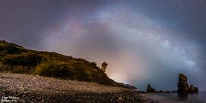 panorámica maro vía láctea estrellas enfoque y foto para facebook