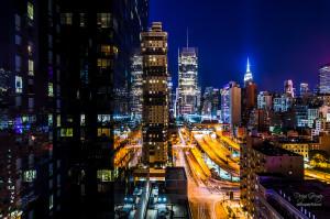 Exposición cuando cae la noche comienza la magia nueva york