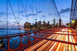 cuando cae la noche comienza la magia nueva york puente