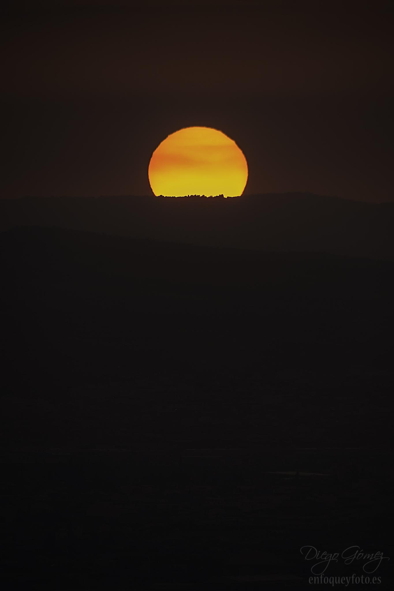 Granada puesta de sol